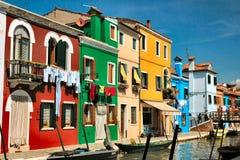 χρώματα burano στοκ εικόνα με δικαίωμα ελεύθερης χρήσης
