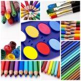 χρώματα colllage Στοκ εικόνες με δικαίωμα ελεύθερης χρήσης
