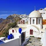 Χρώματα Santorini - Fira Στοκ φωτογραφία με δικαίωμα ελεύθερης χρήσης