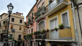 Χρώματα Taormina στοκ εικόνες με δικαίωμα ελεύθερης χρήσης