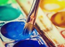 Χρώματα Watercolor στοκ φωτογραφίες με δικαίωμα ελεύθερης χρήσης