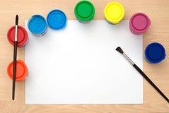 Χρώματα Watercolor στοκ φωτογραφία με δικαίωμα ελεύθερης χρήσης