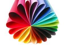 Χρώματος έγγραφο που διπλώνεται ζωηρόχρωμο Στοκ εικόνες με δικαίωμα ελεύθερης χρήσης