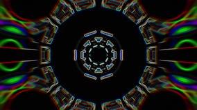 Χρώματος γραμμών συρμένη διακοσμητική καλειδοσκόπιων εθνική φυλετική psychedelic σχεδίων νέα ποιότητα βρόχων υποβάθρου ζωτικότητα απεικόνιση αποθεμάτων