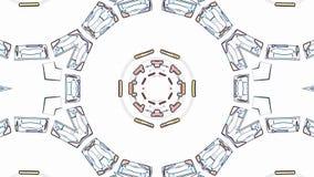 Χρώματος γραμμών συρμένη διακοσμητική νέα ποιότητα βρόχων υποβάθρου ζωτικότητας σχεδίων καλειδοσκόπιων εθνική φυλετική psychedeli απεικόνιση αποθεμάτων
