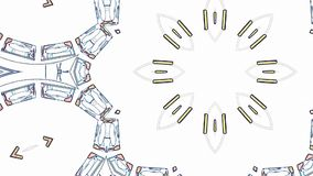 Χρώματος γραμμών συρμένη διακοσμητική νέα ποιότητα βρόχων υποβάθρου ζωτικότητας σχεδίων καλειδοσκόπιων εθνική φυλετική psychedeli διανυσματική απεικόνιση