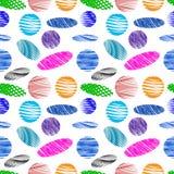 Χρώματος ovals και κύκλων αφηρημένο άνευ ραφής σχέδιο Ελεύθερη απεικόνιση δικαιώματος