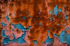 Χρώμα αποφλοίωσης και οξειδωμένο μέταλλο στοκ εικόνα με δικαίωμα ελεύθερης χρήσης
