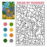 Χρώμα από τον αριθμό, ελέφαντας ελεύθερη απεικόνιση δικαιώματος