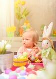χρώμα αυγών Πάσχας Στοκ Εικόνες