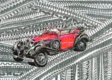 Χρώμα αυτοκινήτων απεικόνιση αποθεμάτων