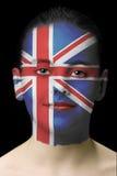 χρώμα βασίλειων προσώπου που ενώνεται Στοκ φωτογραφία με δικαίωμα ελεύθερης χρήσης