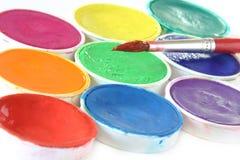 χρώμα βουρτσών δημιουργι&k Στοκ φωτογραφία με δικαίωμα ελεύθερης χρήσης