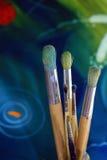 χρώμα βουρτσών καλλιτεχνών Στοκ φωτογραφία με δικαίωμα ελεύθερης χρήσης
