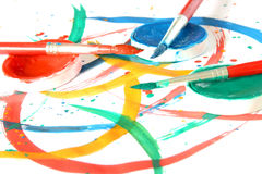 χρώμα βουρτσών δημιουργι&k Στοκ Φωτογραφίες