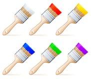 χρώμα βουρτσών διανυσματική απεικόνιση