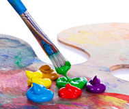 χρώμα βουρτσών Στοκ φωτογραφία με δικαίωμα ελεύθερης χρήσης