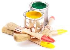 χρώμα βουρτσών Στοκ εικόνα με δικαίωμα ελεύθερης χρήσης