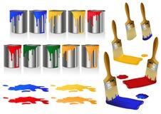 χρώμα βουρτσών Στοκ φωτογραφίες με δικαίωμα ελεύθερης χρήσης
