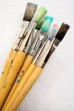 χρώμα δεσμών βουρτσών Στοκ φωτογραφία με δικαίωμα ελεύθερης χρήσης