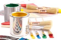 χρώμα δοχείων βουρτσών Στοκ φωτογραφία με δικαίωμα ελεύθερης χρήσης