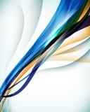 χρώμα δύο ανασκόπησης διανυσματικό κύμα διανυσματική απεικόνιση