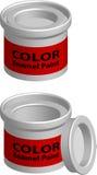 χρώμα εμπορευματοκιβωτί& Στοκ Φωτογραφία