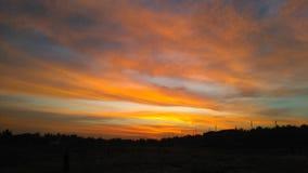 Χρώμα ηλιοβασιλέματος Στοκ Εικόνες