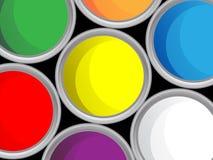 χρώμα κάδων Στοκ φωτογραφίες με δικαίωμα ελεύθερης χρήσης