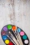 Χρώμα και βούρτσες Στοκ Φωτογραφία