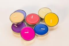 Χρώμα κεριών Aromatherapy Στοκ Εικόνα