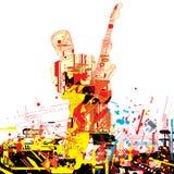 χρώμα κιθαριστών Στοκ φωτογραφία με δικαίωμα ελεύθερης χρήσης
