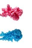 Χρώμα μελανιού χρώματος στο νερό, φωτογραφισμένη κίνηση, που απομονώνεται στο λευκό Στοκ εικόνες με δικαίωμα ελεύθερης χρήσης