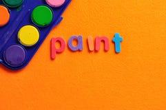 Χρώμα με το χρώμα λέξης Στοκ εικόνα με δικαίωμα ελεύθερης χρήσης