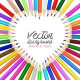 Χρώμα μολυβιών καρδιών Στοκ Εικόνα