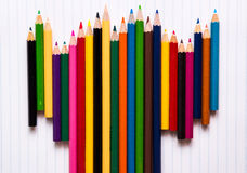 Χρώμα μολυβιών στο άσπρο υπόβαθρο Στοκ Φωτογραφία