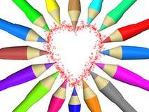 Χρώμα μολυβιών Στοκ Φωτογραφία