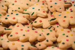 Χρώμα μπισκότων Χριστουγέννων Στοκ Φωτογραφίες
