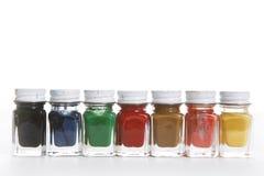 χρώμα μπουκαλιών στοκ φωτογραφίες