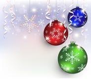 Χρώμα νιφάδων σφαιρών Χριστουγέννων Στοκ φωτογραφία με δικαίωμα ελεύθερης χρήσης