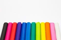 Χρώμα ουράνιων τόξων των ραβδιών αργίλου τέχνης Στοκ Φωτογραφίες