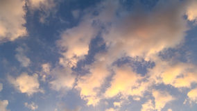 Χρώμα ουρανού και νεφελώδες υπόβαθρο Στοκ Εικόνες