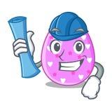 Χρώμα Πάσχας μορφής κινούμενων σχεδίων αρχιτεκτόνων στα αυγά απεικόνιση αποθεμάτων