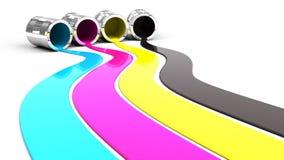 χρώμα που ανατρέπεται Στοκ Εικόνα