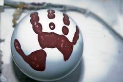 Χρώμα που χρωματίζεται handprint Στοκ φωτογραφίες με δικαίωμα ελεύθερης χρήσης