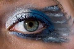 χρώμα προσώπου πεταλούδω& Στοκ φωτογραφία με δικαίωμα ελεύθερης χρήσης