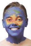 χρώμα προσώπου της Αυστρ&alpha Στοκ Εικόνες