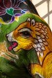 Χρώμα προσώπου τιγρών, καμβάς ελεφάντων Στοκ φωτογραφία με δικαίωμα ελεύθερης χρήσης