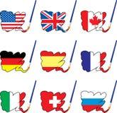 χρώμα σημαιών Απεικόνιση αποθεμάτων