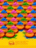 Χρώμα σκονών gulal για το ευτυχές υπόβαθρο Holi Στοκ φωτογραφίες με δικαίωμα ελεύθερης χρήσης